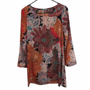 Allison Joy Evereve Floral Boho Dress Women's Size M